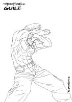 StreetFighter IV  Guile-LW by hollowcorpse