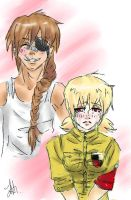 Pip and seras by Internal-Disaster