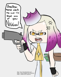 Angry Pearl splatoon 2 by lazy-Time