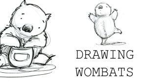 Drawing Wombats on YouTube by GabrielEvans