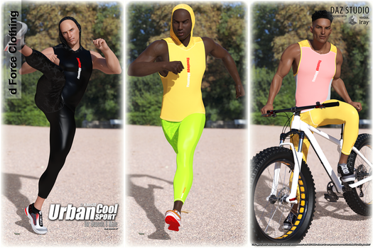 Urban Cool - Sport for Genesis 8 Male - OUT NOW by Kaos3d