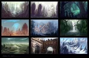 Environment Thumbnails by Eru17
