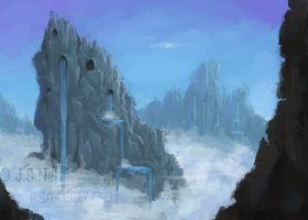 Icy Waterfalls - Speedpaint by JoshuaNel