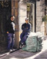 Workers On La Rambla by RandySprout
