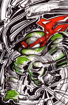 TMNT CONVENTION SKETCH MIKEY
