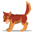 red wolf pup by PurpleRat-YS