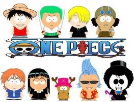 South Park Straw-Hat Crew by grimmjack