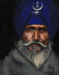 Nihang Singh - coloured Sketch by prince911