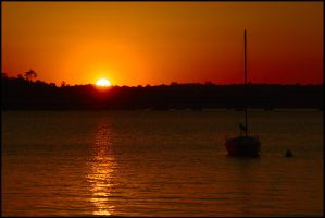 Georges River sunset 2 by wildplaces