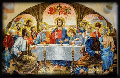 'Last Supper' in glass mosaic_full size by Artmoment-Rus