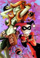 Harley Quinn Poison Ivy by MaximoVLorenzo