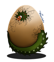 SCP-682 in the egg by maxalate