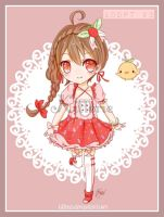 {LOWERD PRICE 50%/open} Adopt 3: Strawberry Cutie by Kitterie