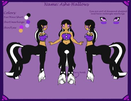 Ashe Hallows (Centaur) Reference Sheet by CharoTheDawnClover