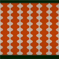 Mid-century Wave (orange) by Rosemoji