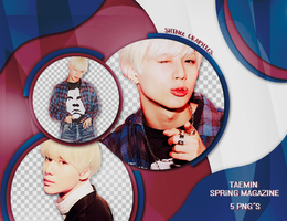TAEMIN- SPRiNG MAGAZINE /PACK PNG by SHINeeEditions