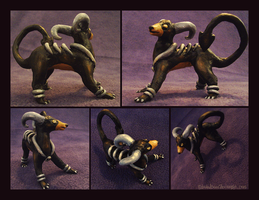 Houndoom Clay Figurine