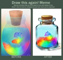 botttle of rainbow (before and after meme) by TheKillerDemon