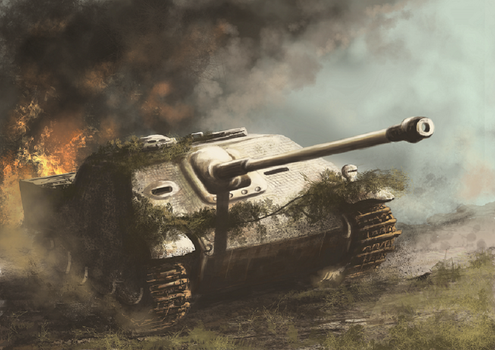 Jagd Panther tank destroyer (WW2) by derbz