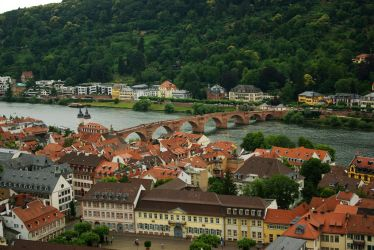 Heidelberg - View on river Neckar and Old Bridge by steppeland