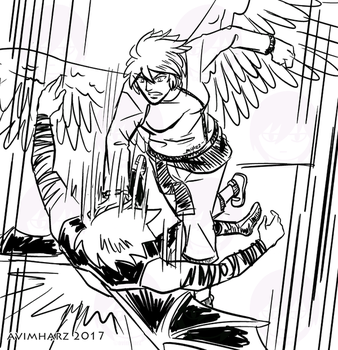 Quick Sketch: Silver fight sketch no. 1 by avimHarZ