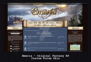 Custom Forum Skin - Emeria: Original Fantasy RP by PointyHat