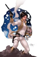 Princess Leia Color by logicfun