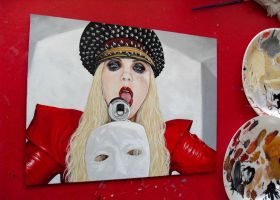 Maria Brink - In This Moment painting #2 by D-E-V-I-A-N-T-A-R-T