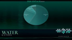 Water Cities - PowerPoint Template (Pie Chart) by CauseThought
