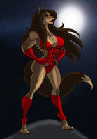 Lady Lycan:Moonlit Mugging by Freedom-Legion