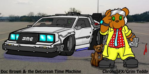 Doc Brown and the Time Machine by ChronoSFX