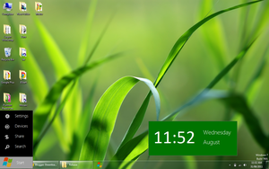 Pulmon Start: W8 Start Menu by parassidhu