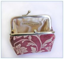 Red Orient purse open by restlesswillow