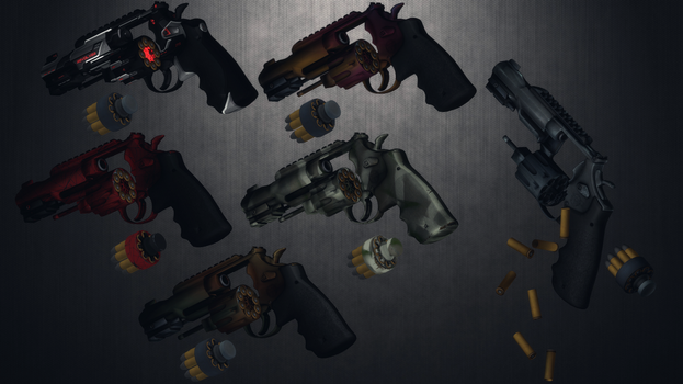 [MMD] .357 Magnum MP R8 pack for DL by AbyssLeo