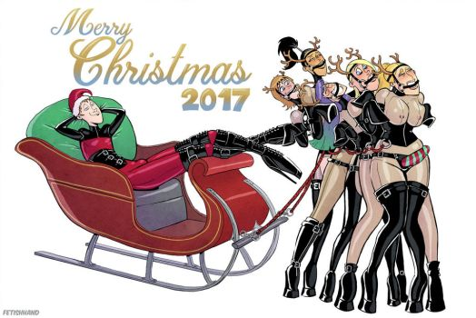 The Latex Couple: Christmas 2017 by Fetishhand