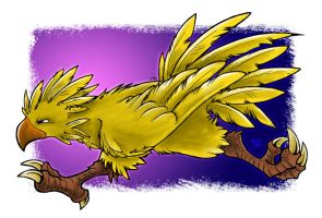 Dashing Chocobo by Merinid-DE