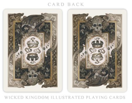 Card Back for the  Wicked Kingdom Deck by wylielise