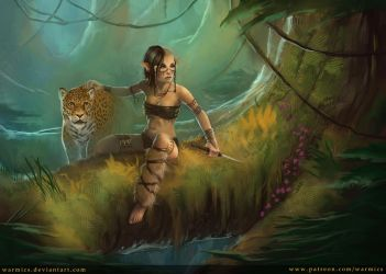Feral Huntress by Warmics
