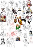 November - December 2015 Doodle dump by ryuuen