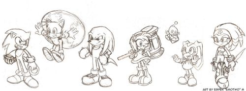 Sonic character line-up - Draft 1 by emotwo