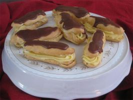 Chocolate Eclairs by Deathbypuddle