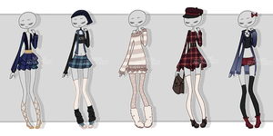 Gachapon outfits 17 by kawaii-antagonist