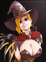 Overwatch: Mercy witch by erodraw