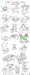 Left Handed Pokemon from Memory by BlazeDGO