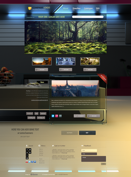 3D WebDesign Concept Template. (Feel free to buy!) by sashander