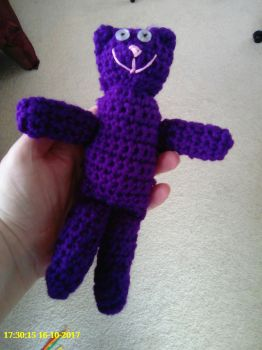 Crochet teddy by davidanaandrake