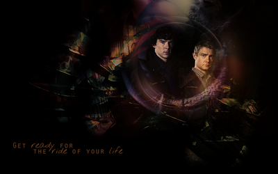 BBC Sherlock Wallpaper 5 by helenecolin