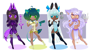 Guest Adopts: Lockette space team CLOSED by Lunathyst