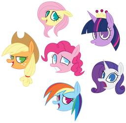 Hallucination Mane Six (Bonus) by AmarthGul