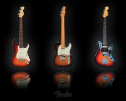 Fender Guitars by SiliconBrain